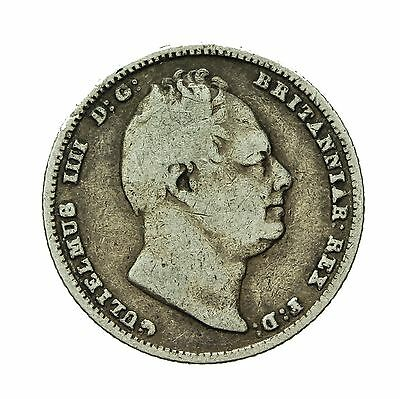 William Iv Silver Sixpence 1837