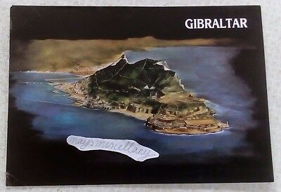 VINTAGE POSTCARD Air View of the Rock,Gibraltar,1987,Aerial View,British,Vtg,Old