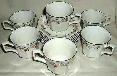 JOHNSON BROTHERS ETERNAL BEAU 6 x CUPS AND SAUCERS EXCELLENT CONDITION