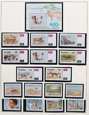NAMIBIA 1993 COMPLETE MNH** YEAR Set, Animals, Butterfly, Nature, Fauna, Flowers