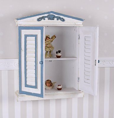 Gabinete De Pared Shabby Chic Armario Vintage Estante La Tablero