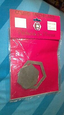 Colers patchplates.Metal Quilting Template  for Patchwork crafts 25 mm hexagon