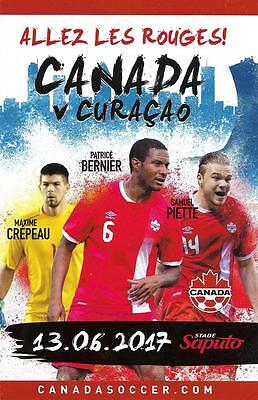 Canada - Curacao 2017 Montreal Friendly Program