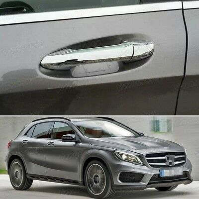 New Chrome Outer Side Car Door Handle Cover Trim for Mercedes Benz GLA 2015-2017