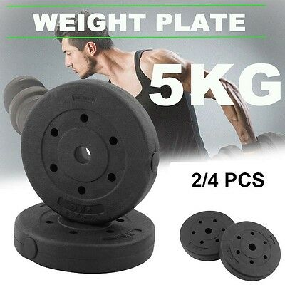 High Quality Black Weight Plates for Dumbbells Weight Lifting Bars 10KG 20KG UK