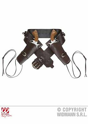 Adult Western Brown Cowboy Double Holster DOES NOT INCLUDE GUNS