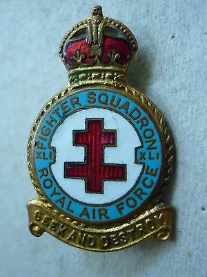 VINTAGE ROYAL AIR FORCE BADGE R.A.F. FIGHTER SQUADRON No.41 BATTLE OF BRITAIN