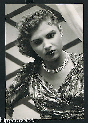 FOTO vintage PHOTO, Portrait hübsche Frau Dame pretty woman lady femme (77)