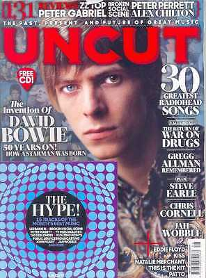 Uncut Magazine + Cd August 2017 (David Bowie, Radiohead, The War On Drugs) New
