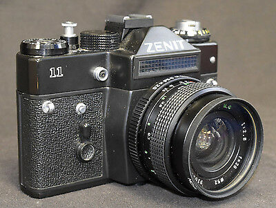 Zenit 11 SLR 35mm film camera with 28mm 2.8 MC Helios (A3)