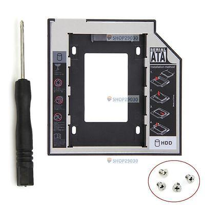 Universal 12.7mm SATA 2nd SSD HDD Hard Drive Caddy for DVD-ROM CD Optical Bay TP
