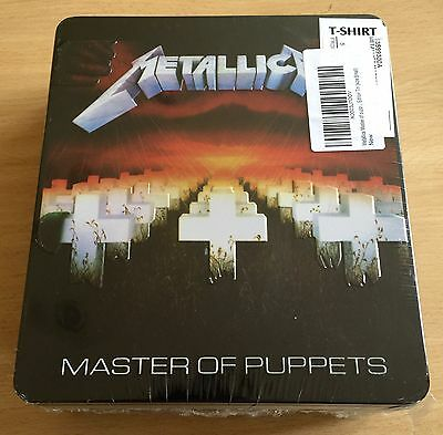 Metallica-Master Of Puppets T Shirt In Limited Large Tin Size Small Shirt Sealed