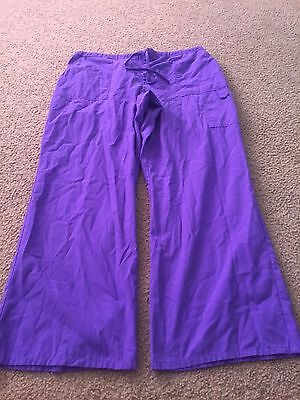 Nice women's size XL SB Scrubs purple scrubs pants bottoms