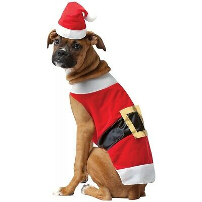 Dog Christmas Costumes Pet Santa Claus Outfit Funny Fancy Dress