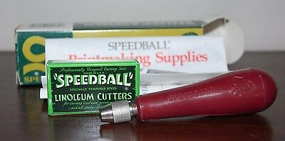NEW Old Stock Speedball Linoleum Cutters Assortment No. 1 ~ Vintage