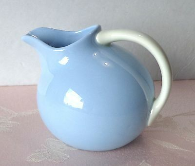 Homer Laughlin KRAFT-BLUE Novelty Creamer Round Small Pitcher