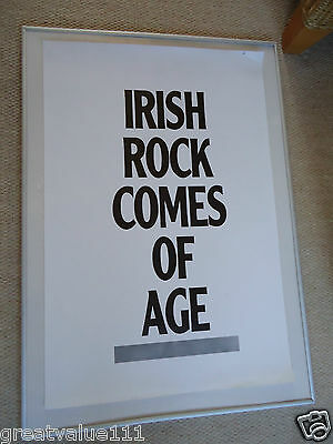 Irish Rock Comes Of Age Gig Poster 1985 Unreleased Printers Own Original Poster