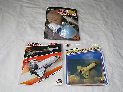 MOSC Set of 3 Space Shuttles McToy & Zee Toys