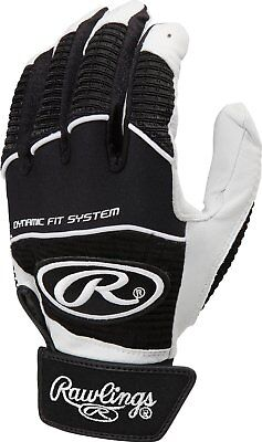 *Rawlings Workhorse WORK950BG-B-88 Black S Batting Gloves