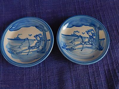 M.A. Hadley Fisherman (Tree) COASTER set of TWO (2) *have lots of HADLEY items*