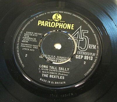 "the beatles long tall salley ep uk parlophone label vinyl 7"" ep gep 8913 mono"
