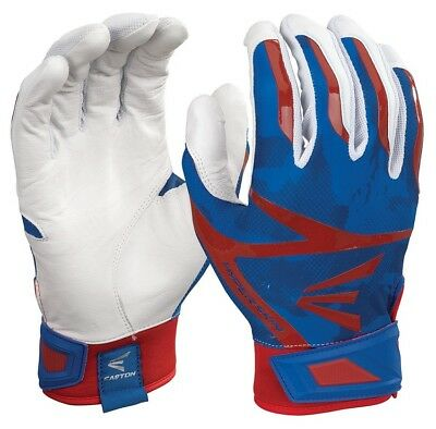 1 Pair Easton Z7 Hyperskin Youth Small Batting Gloves White / Royal / Red New!