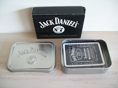 Pack of Jack Daniel's playing cards in tin and box