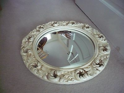 A Beautiful Ornate Large Vintage Convex Mirror An Outstanding Mirror