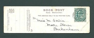 1904 BOOKMARK postcard - BROADSTAIRS STATION cds