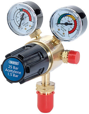 Genuine DRAPER 25 Bar Acetylene Regulator | 35008