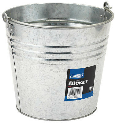 Genuine DRAPER Galvanised Steel Bucket (14L) | 53241