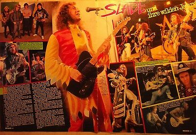 2 german clipping SLADE LIVE ROCK GLAM POP ROCK BAND N. SHIRTLESS BOYS BOY 70`s
