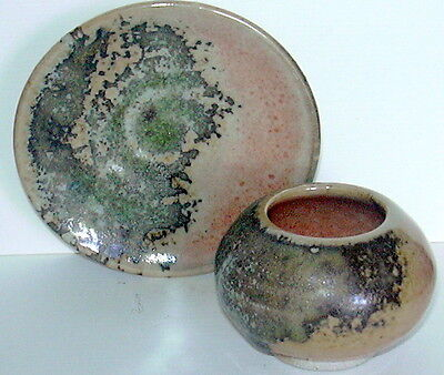 Whitefish Pottery Pot And Dish Marked Nr