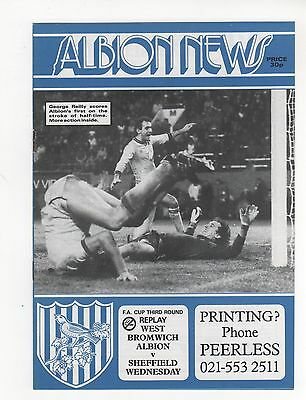 West Brom V Sheffield Wednesday 1985/6 Fa Cup Replay