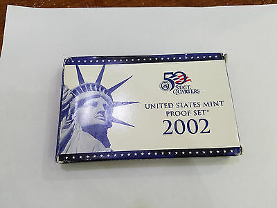 2002 United States Mint Proof Set & COA - 6334