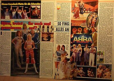 2 german clipping ABBA N. SHIRTLESS AGNETHA ANNAFRID BOY BAND BOYS GROUP BRAVO