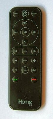 iHome Rz17 Remote Control for Some Ihome Audio Units