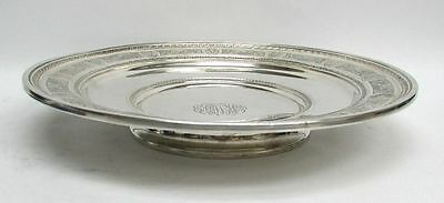International 1924 Wedgwood Pattern Sterling Silver Low Footed Cake Plate #H86
