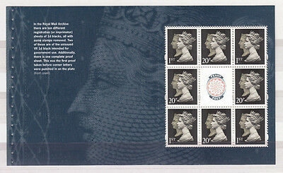 GB 2009 TREASURES of the ARCHIVE PRESTIGE BOOKLET PANE SG.No.2957a MNH