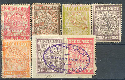 Transvaal used fiscal stamps