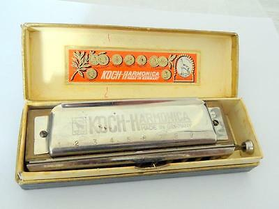 Vintage HOHNER KOCH CHROMATIC / SLIDE HARMONICA 10 HOLE 980/40 in C w/ BOX FWO