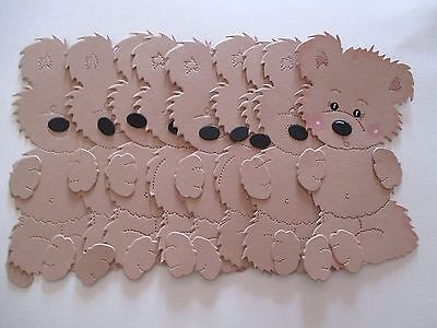 8 Large Scruffy Bear 8 Noses 8 sets of paws  Die cut shapes