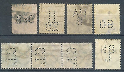 Germany range of used stamps with perfins