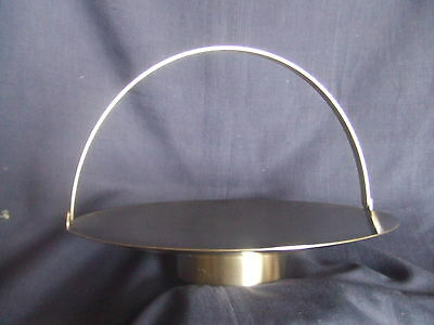 Vintage Old Hall Stainless Steel Swing Handled Cake Basket Robert Welch Design