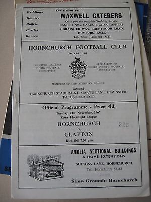 1967-68 Hornchurch v Clapton Essex Floodlight League 21.11.1967