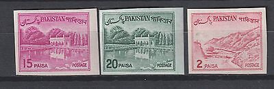 Pakistan imperf definitives MNH
