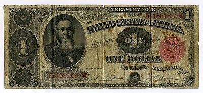 1891 One Dollar Treasury  Note  FR# 351 - Circulated Large Size $1 Note