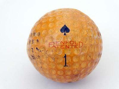 Vintage PENFOLD PATENTED BLACK ACE # 1 GOLF BALL RARE & COLLECTABLE GOLFBALL