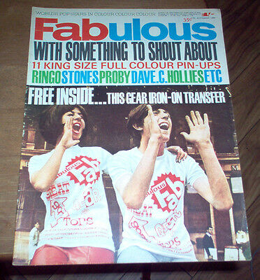 Fabulous Magazine 1964 UK Beatles Rolling Stones Pattie Boyd Hollies Vintage