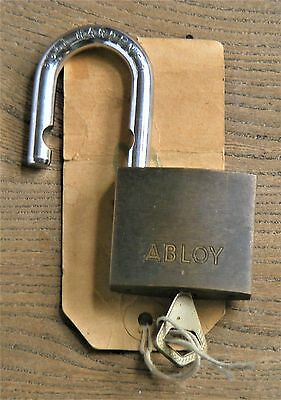 "1"" Hasp Abloy High Security Padlock with Semicircular Key and Rotating Cylinder"